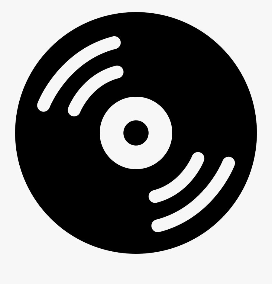 Transparent Vinyl Record Clipart - Music Disc Icon, Transparent Clipart