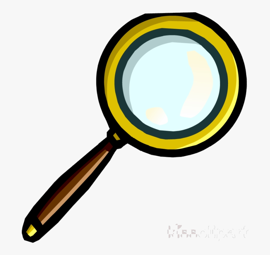 Magnifying Glass Club Penguin Clipart Vinyl Record - Treasure Hunt Magnifying Glass, Transparent Clipart