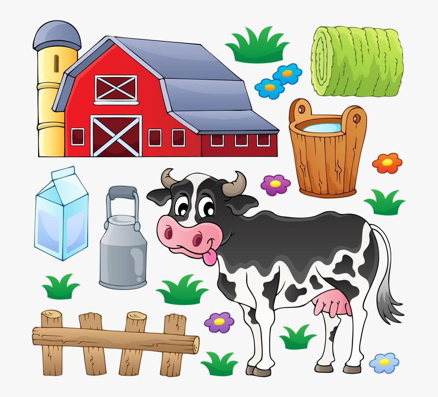 Farmhouse Clipart Dairy Farm - Cow On The Farm Clipart, Transparent Clipart