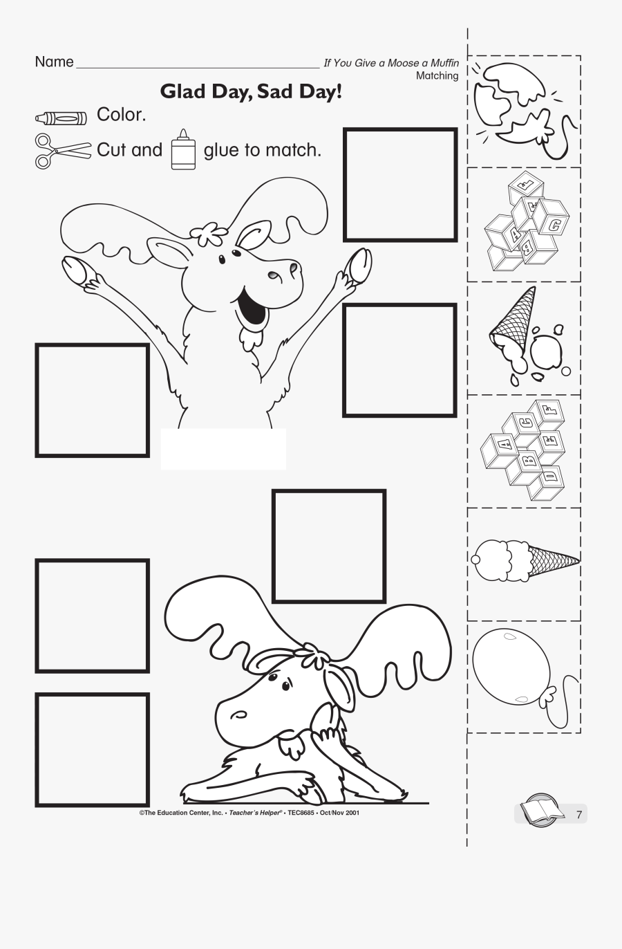 If You Give A Moose A Muffin Printable Sequencing Cards, Transparent Clipart