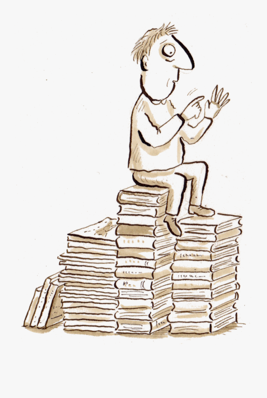 Sometimes New Books Are Made Out Of Old Drawings - Drawing Many Books, Transparent Clipart