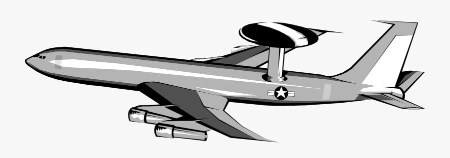 Transparent Airplane Clipart Vector - Awacs Plane Clip Art, Transparent Clipart