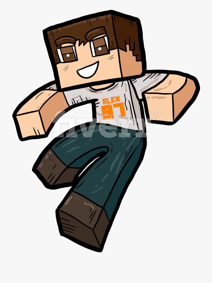 Transparent Minecraft Clip Art - Minecraft Carcter Png, Transparent Clipart