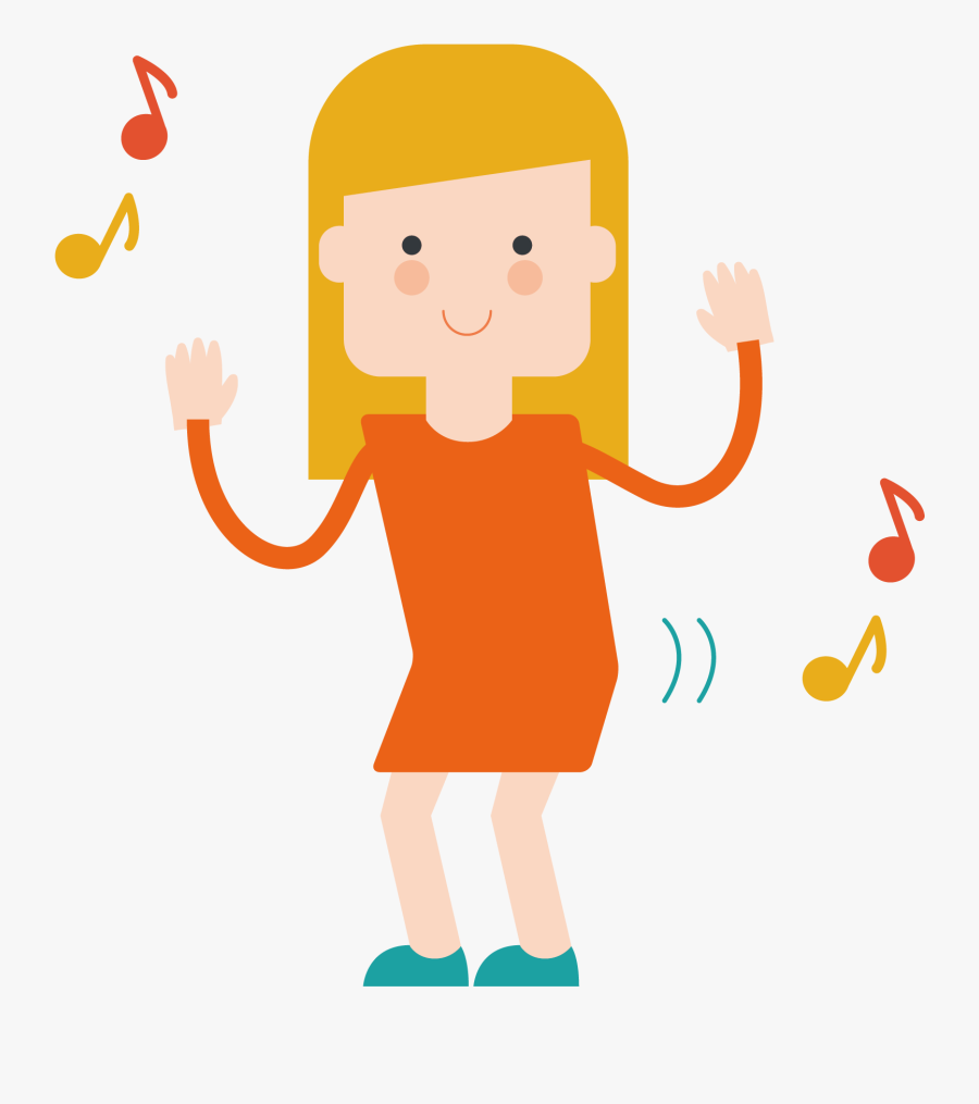 Adobe Illustrator Illustration - Dance Cartoon, Transparent Clipart