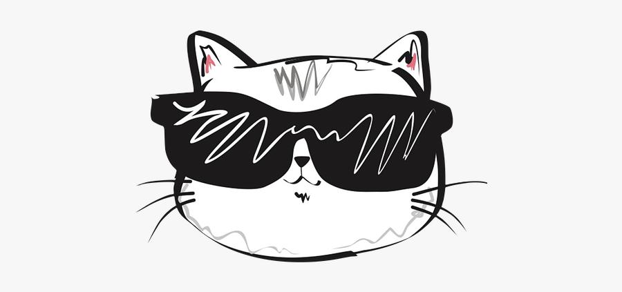 Cool Cat Sticker Png, Transparent Clipart
