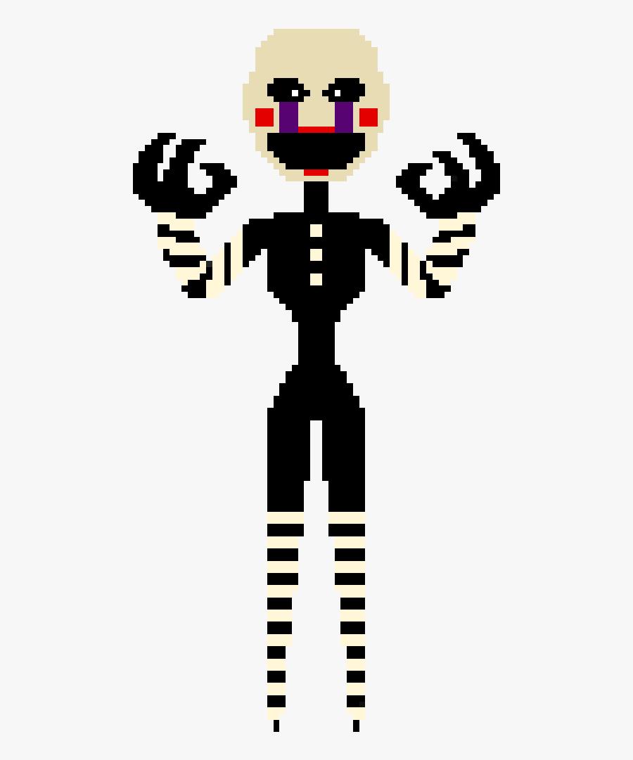 Puppet Fnaf Pixel Art, Transparent Clipart