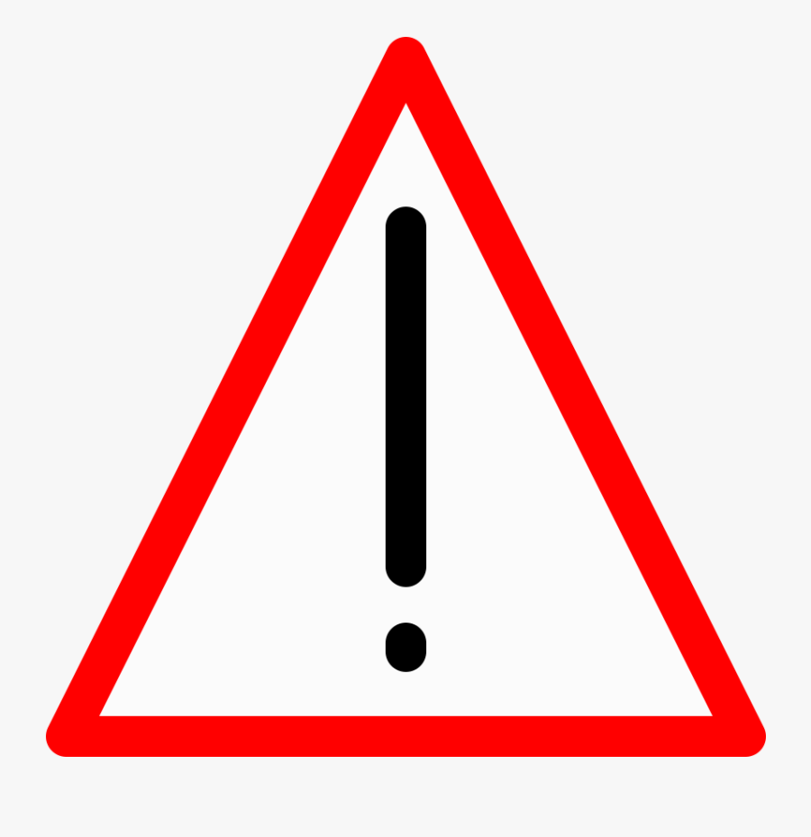 Warning Sign - Rounded Triangle Transparent Background, Transparent Clipart