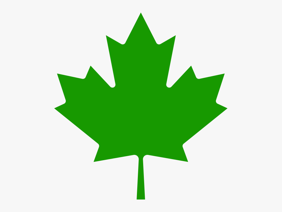 Canada Maple Leaf Green - Green Canadian Maple Leaf, Transparent Clipart