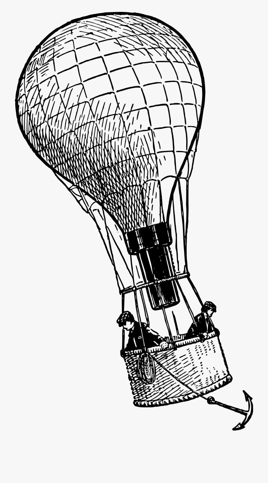 Hot Air Balloon Anchor, Transparent Clipart