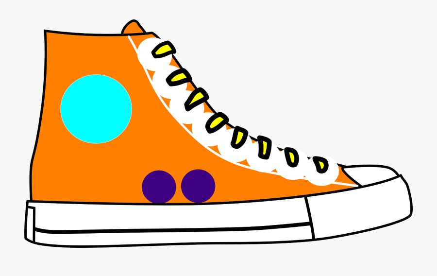 Shoe Chucks Sneakers Free Picture - High Top Shoes Clip Art, Transparent Clipart