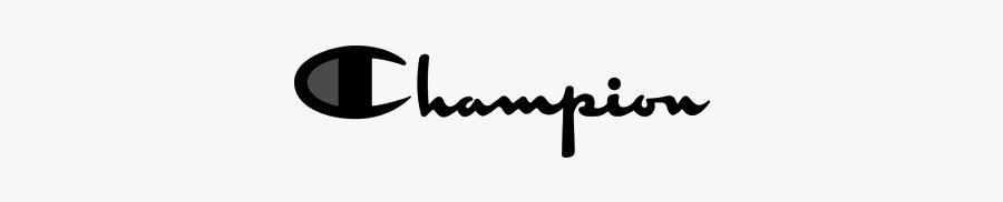 #aeshetic #logo #champion #sticker #championlogo #trendy - Champion Logo Black And White, Transparent Clipart