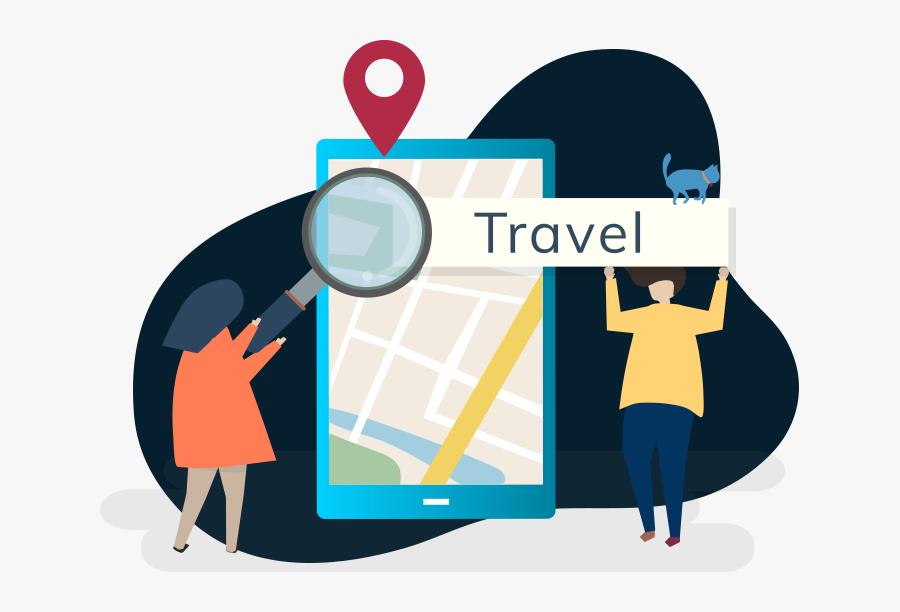 Digital Marketing For Travel And Tourism Business - Graphic Design, Transparent Clipart