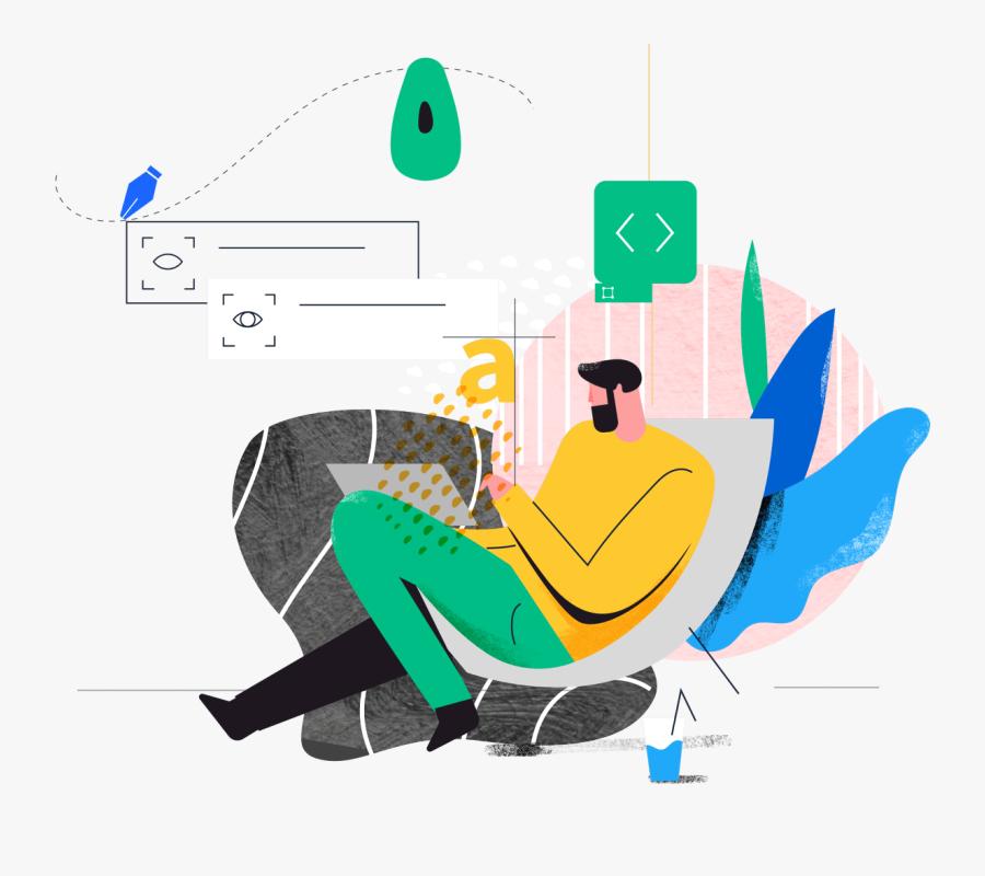 Illustration For Web Design, Transparent Clipart