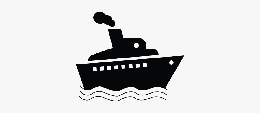 Ship, Cruise, Cargo, Vessel, Yacht Icon - Cruise Ship Clipart Black And White, Transparent Clipart