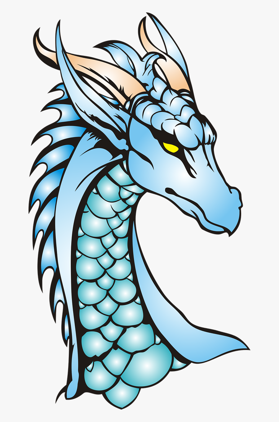 Dragon Neck The Head Of The Free Picture - Dragon Head And Neck, Transparent Clipart