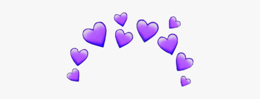 #purple #heart #crown #emoji #hearts #sticker #freetoedit - Yellow Heart Emoji Transparent, Transparent Clipart