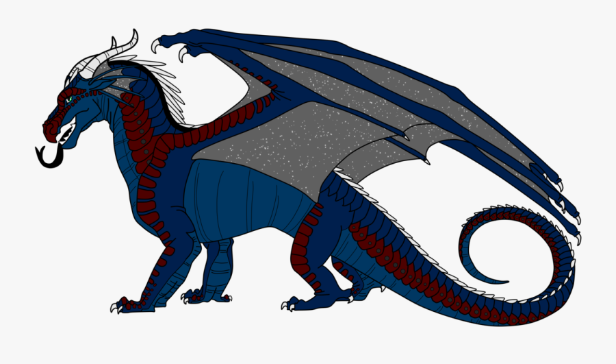 Night/sky/rainwing For Biight By Lunarnightmares981 - Seawing Nightwing Hybrid Wings Of Fire, Transparent Clipart