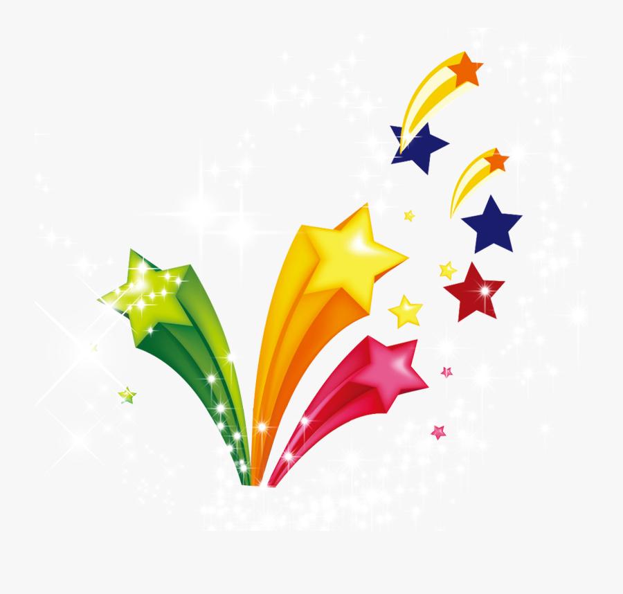 Celebration Star Design Background, Transparent Clipart