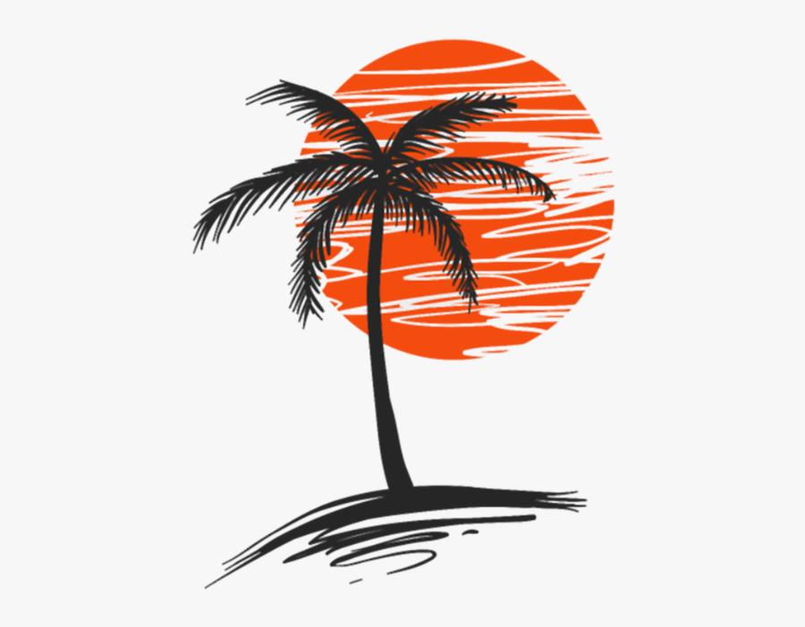 Palm Tree - Palm Tree Graphic Design, Transparent Clipart