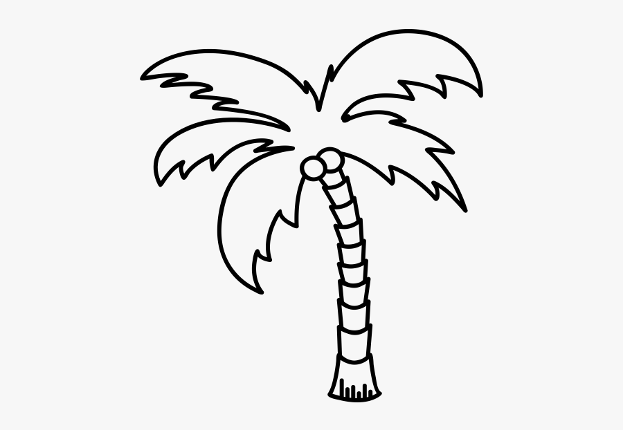 """""""  Class=""""lazyload Lazyload Mirage Cloudzoom Featured - Palm Tree Line Art, Transparent Clipart"""