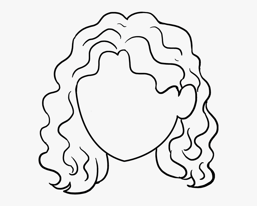 How To Draw Curly Hair Really Easy Drawing Tutorial - Easy Curly Hair Drawing, Transparent Clipart