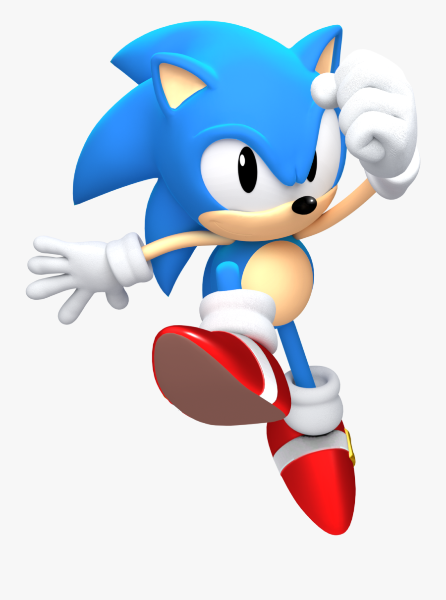 Cartoon,sonic The Hedgehog,fictional Character,clip - Sonic Classic Sonic Dash, Transparent Clipart
