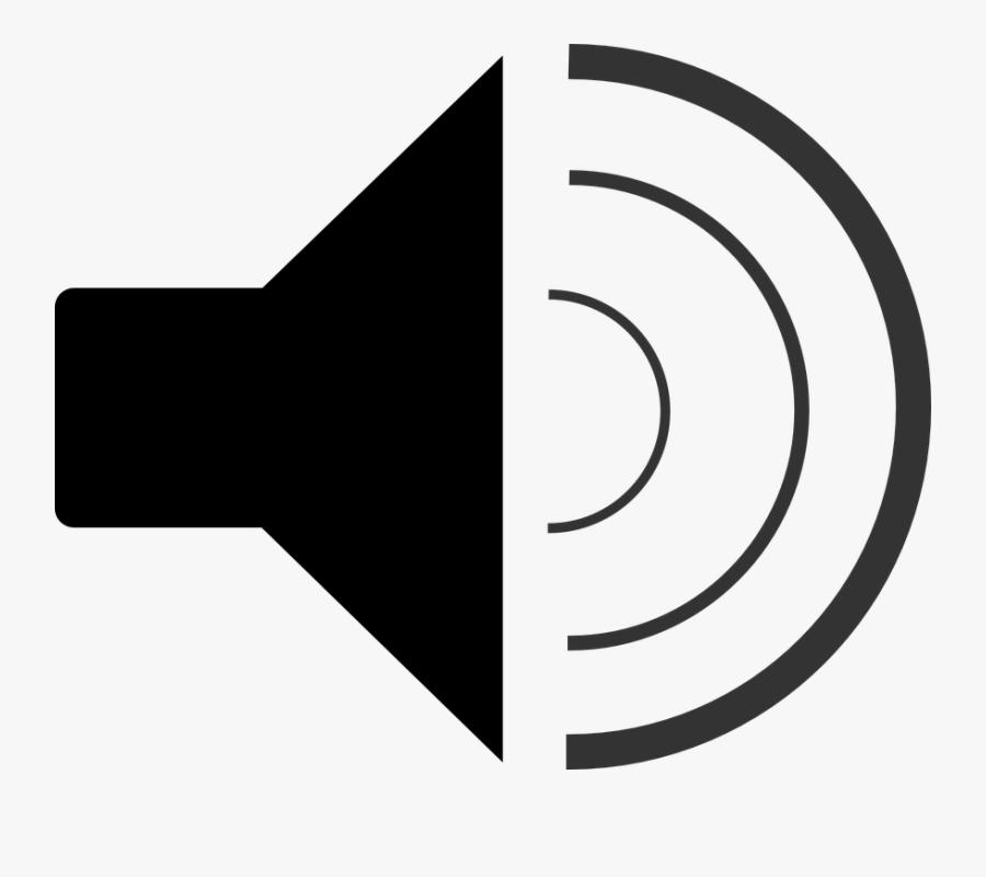 Speaker, Symbol, Black, Audio, Sound, Volume, Waves - Black And White Speaker, Transparent Clipart