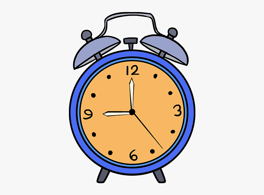 How To Draw Alarm Clock - Alarm Clock Drawing Easy Colorful, Transparent Clipart