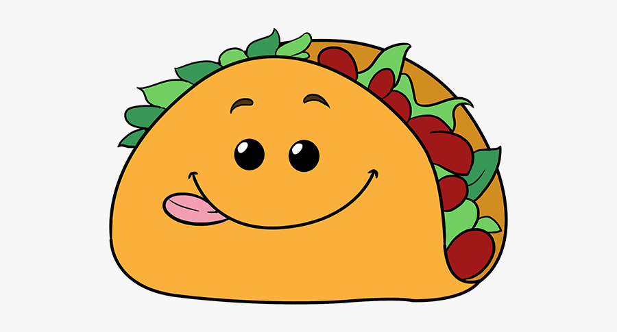 How To Draw Funny Taco Taco Drawing Step By Step Free Transparent Clipart Clipartkey