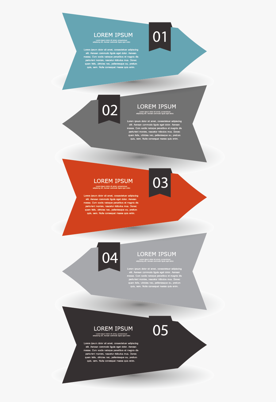 Vector Chart Diagram Euclidean Shape Infographic Arrow - Arrow Infographic Png, Transparent Clipart