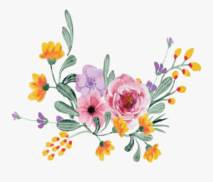 Floral Design Rosa Multiflora - Flower Vector, Transparent Clipart