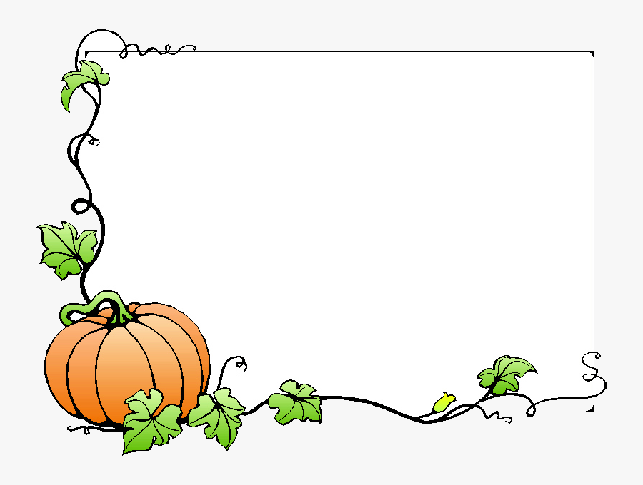 Fall Free Borders Clip Art On Transparent Png - Pumpkin Vine Border Clipart, Transparent Clipart