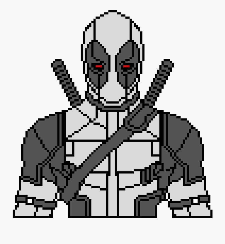 Deadpool Pixel Art X Force, Transparent Clipart