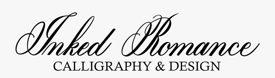 Inked Romance Calligraphy & Design - Calligraphy, Transparent Clipart