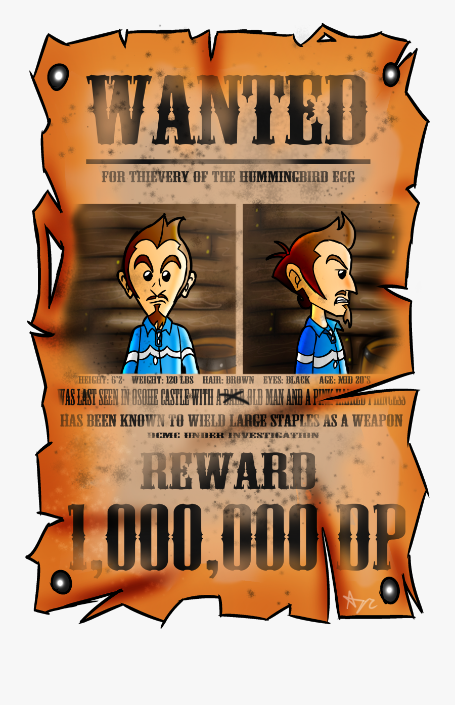 Duster Wanted Poster - Poster, Transparent Clipart