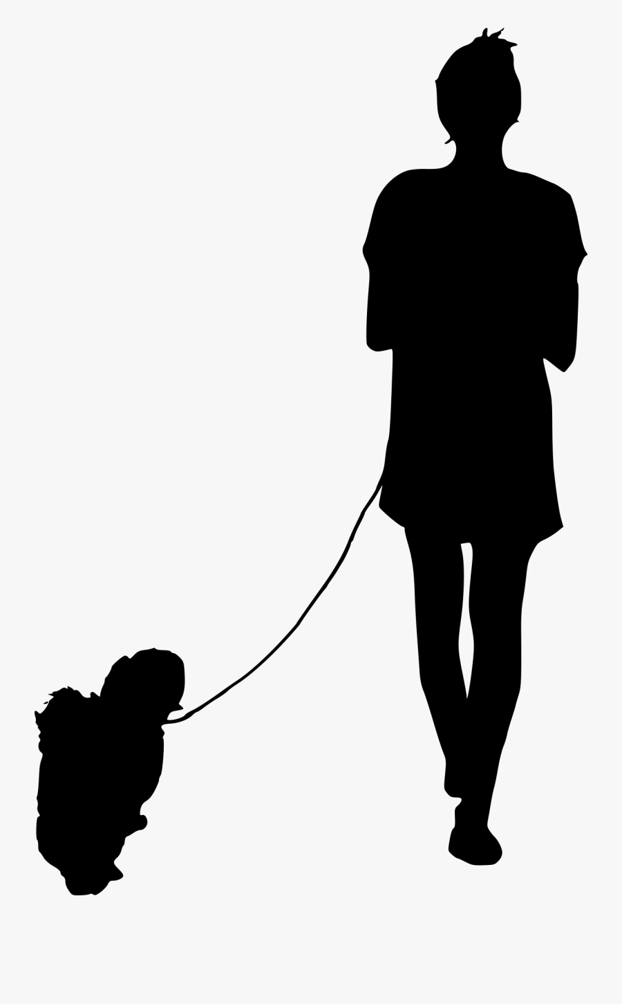 Clip Art People Walking Silhouette - Person Walking Silhouette Png, Transparent Clipart