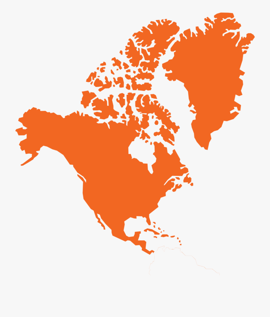 South America - Vector North America Map Outline, Transparent Clipart