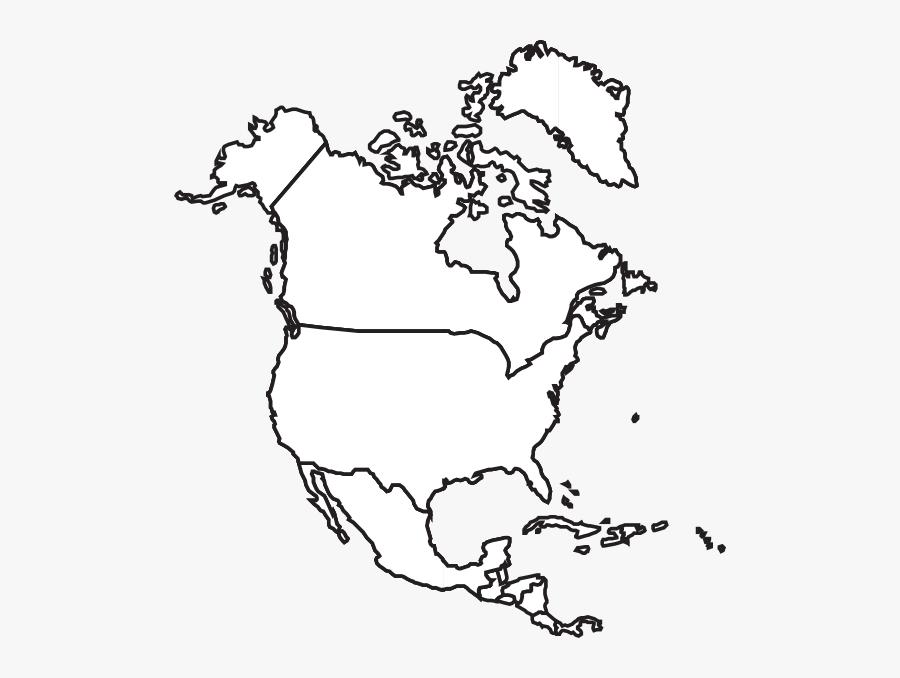 Transparent North America Clipart - North America Map, Transparent Clipart