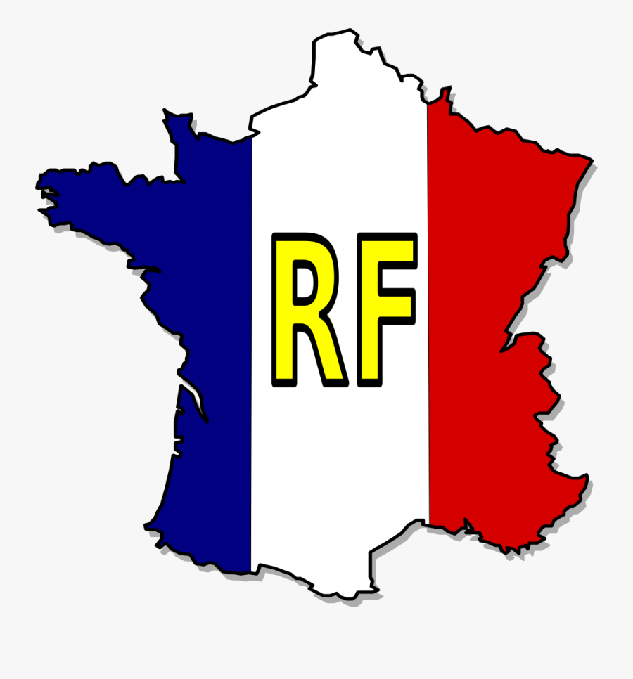 Transparent Drapeau Français Png - France Flag Map, Transparent Clipart