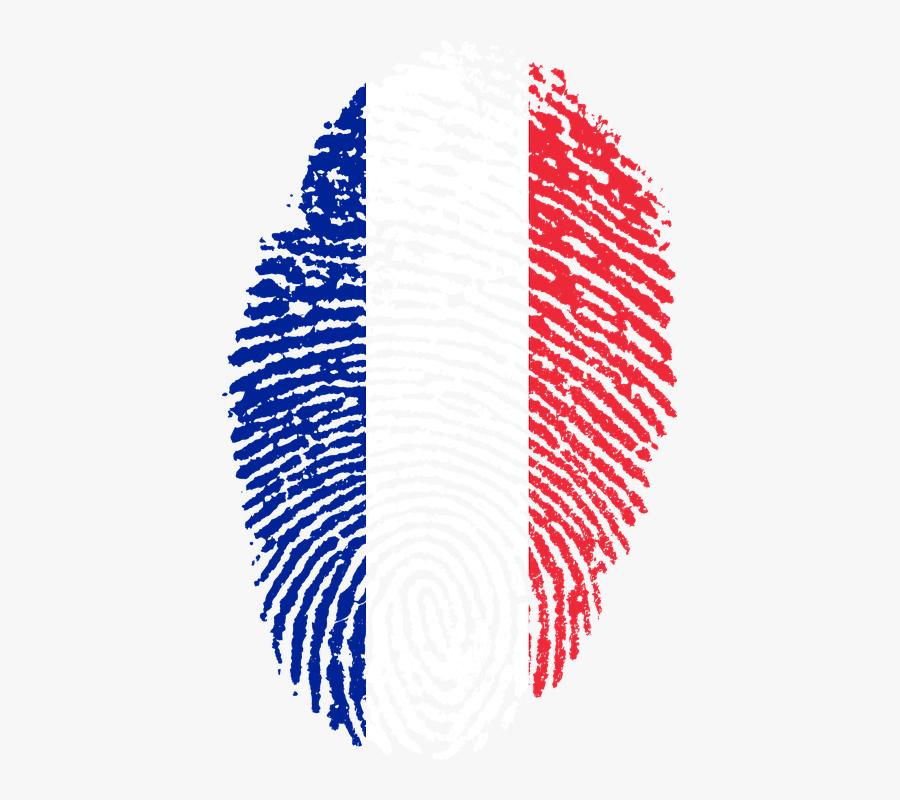 France Flag Png Transparent - France Flag Fingerprint, Transparent Clipart