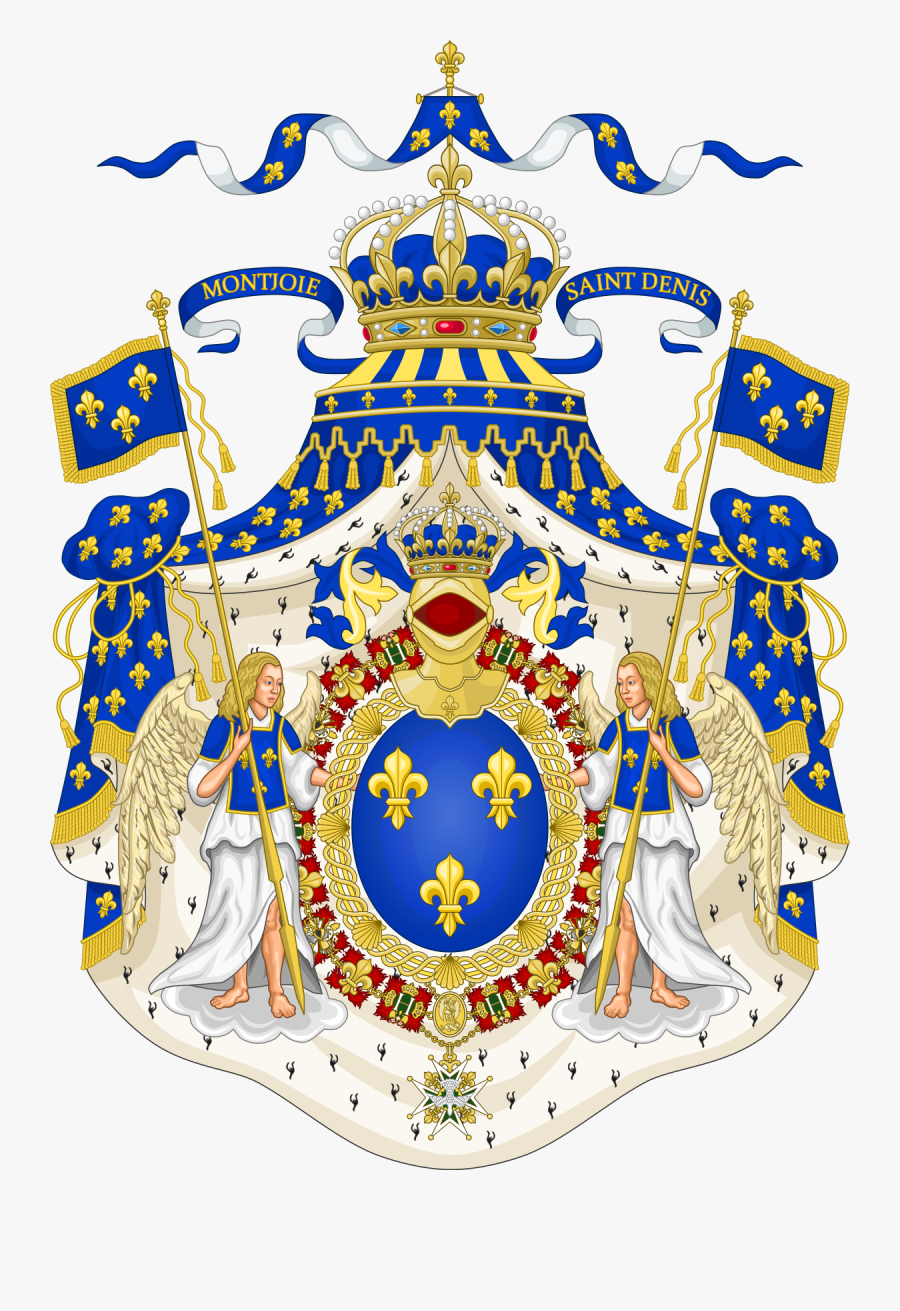 Royal French Coat Of Arms, Transparent Clipart