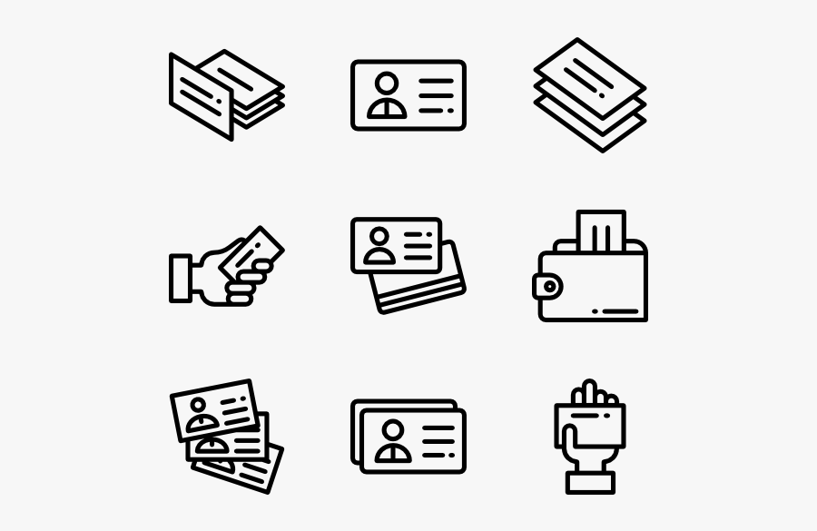 Clip Art Icons For Business Cards - Business Card Vector Icon, Transparent Clipart