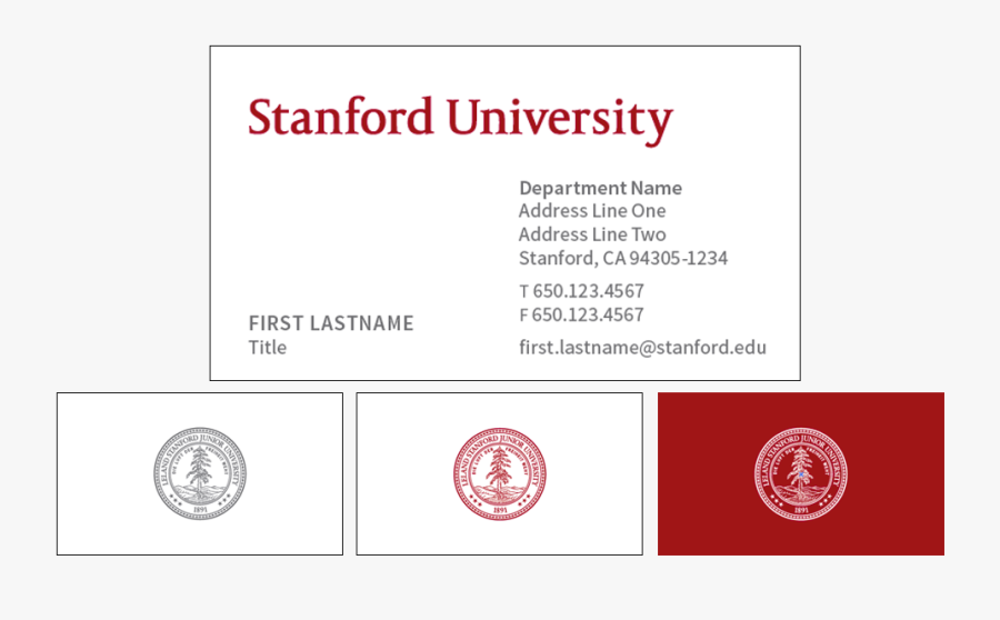 Transparent Business Card Clipart - Stanford University Business Card, Transparent Clipart