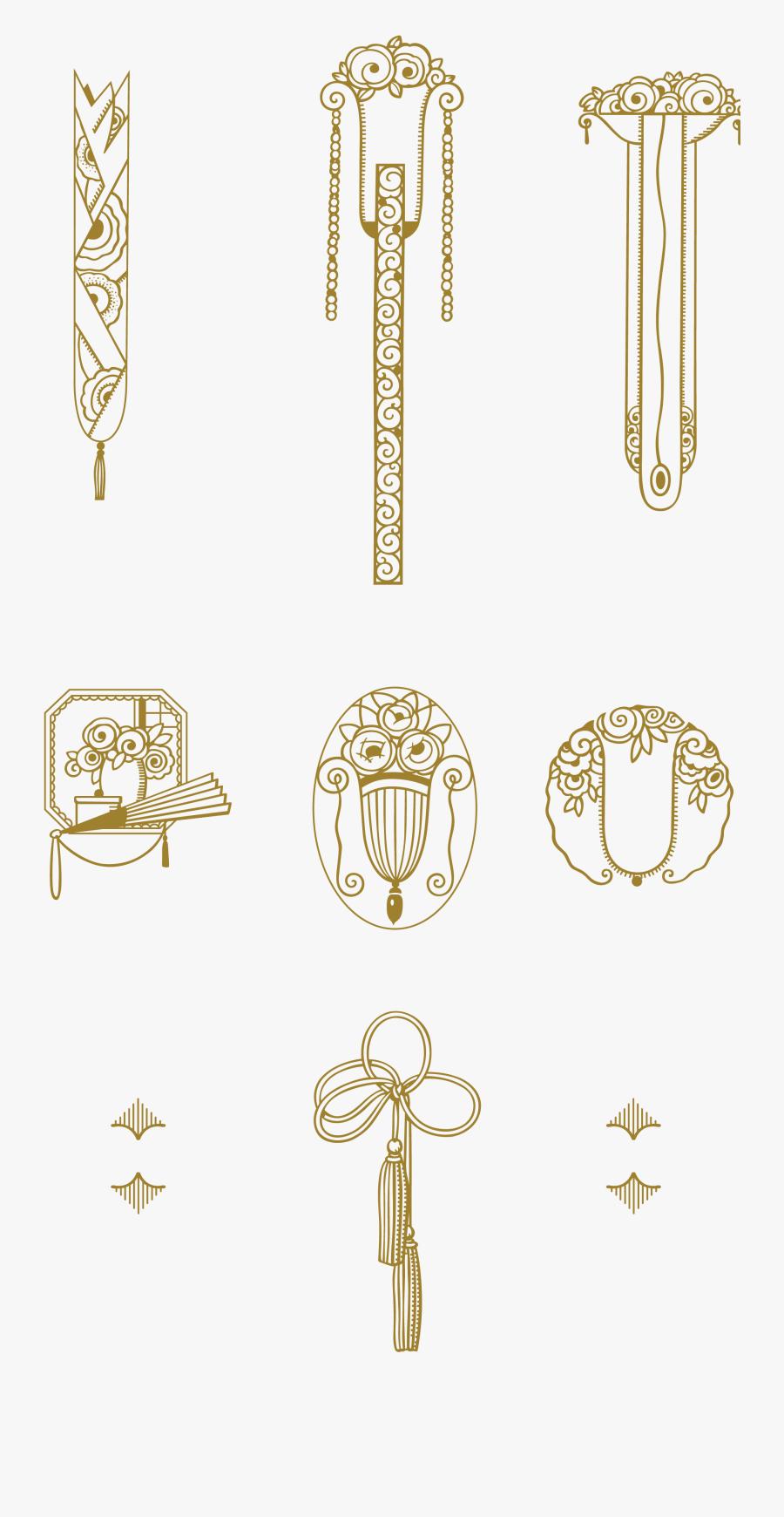 Transparent Art Nouveau Border Png - Art Deco Ornament Png, Transparent Clipart