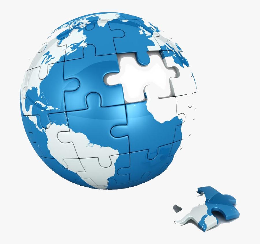 Clip Art Jigsaw Planet - Earth Puzzle Png, Transparent Clipart