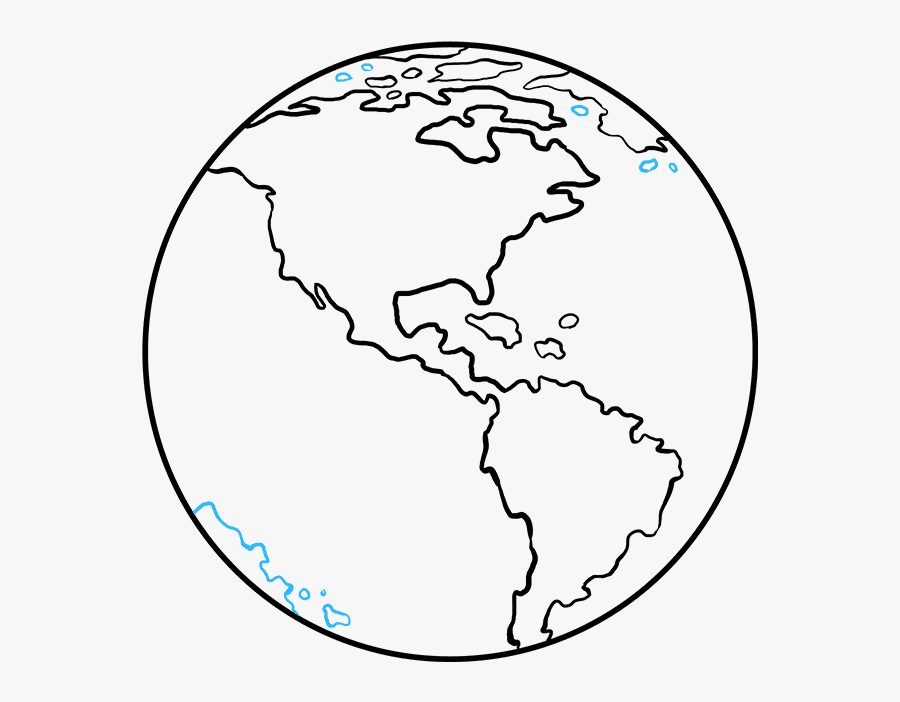 How To Draw Earth - Draw Earth, Transparent Clipart