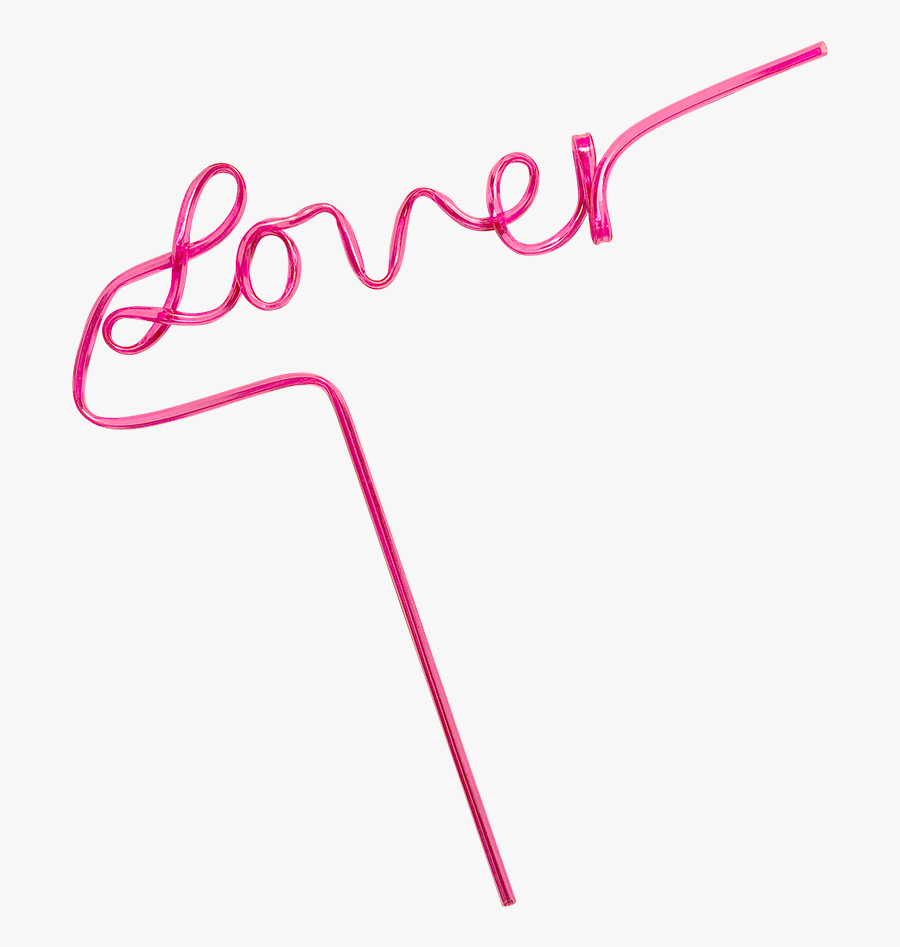 Taylor Swift Lover Straw, Transparent Clipart