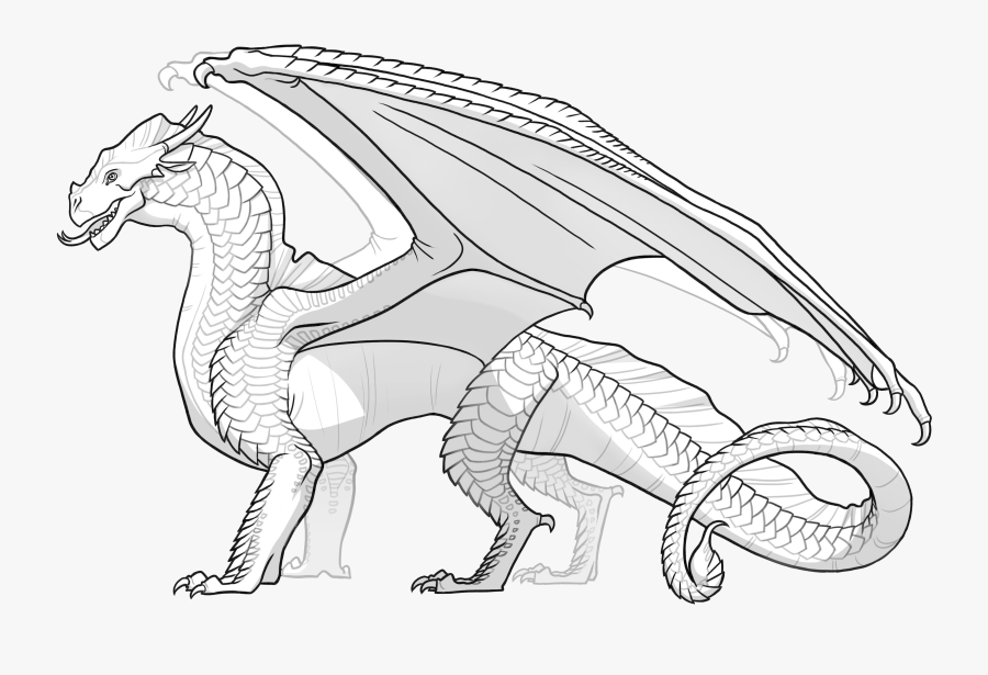 Wings Of Fire Rainwing Coloring Pages - Wings Of Fire Sandwing Coloring Pages, Transparent Clipart