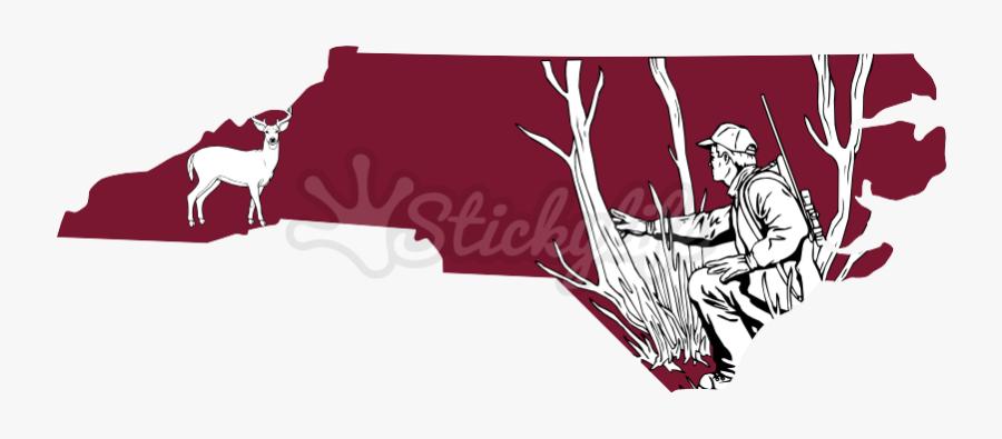 North Carolina State Decal - Illustration, Transparent Clipart