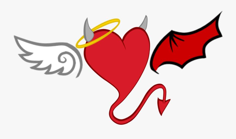 Devil Demon Drawing Clip Art - Devil Heart, Transparent Clipart